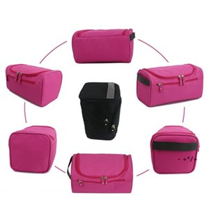 Portable Storage Bags Waterproof Men Solid Color Outdoor Sports Travel Duffel Zip Makeup Wash Bag GWD10619