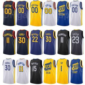 Ekran Baskılı Basketbol Andrew Wiggins Jersey 22 Draymond Green 23 Damion Lee 1 Eric Paschall 7 Stephen Körili 30 Şehir Kazanılan Sürümü