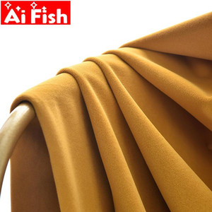 Modern Simple Curtain fabric solid Velvet blackout Physical curtains for Bedroom Thicker chenille curtain cloth drape MY244-50