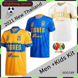 2020 2021 Мексика Uanl Tigres Футбольные трикотажки 7 звезд C.sAlceo Gignac Vargas Pizarro Футбол Джерси ЛИГА MX + Детский комплект Футбольная рубашка