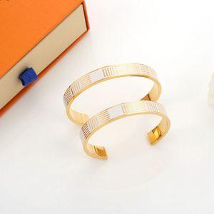 Designer pulseira amante jóias jóias titanium amor amor rosa pulseira de ouro e bracelete estilo aberto masculino e mulheres