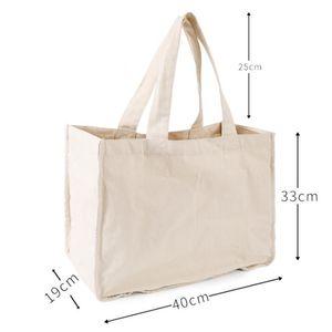 أكياس التسوق البقالة قماش مع زجاجة الأكمام 100٪ القماش العضوي القماش حمل الحقائب قابل للغسل حقيبة مقبض صديقة للبيئة