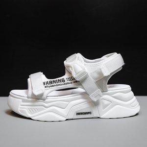 Fujin Женщины Сандалии Повседневная Обувь Толстые Нижние Дышащие Дамы 2021 Слайды Модные Платформы Обувь Женские Летние Сандалии 210302