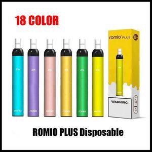 Romio Descartável Vape Pen Pods Dispositivo Romio 500mAh Bateria 600 Puffs Barra Puff mais Kit pré-preenchido Descartável E Cigarros Vs Barras de Ar