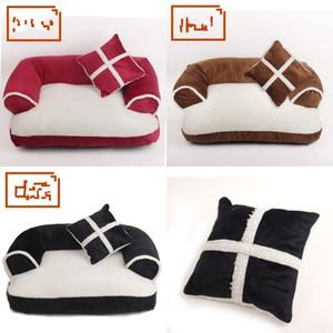 Yeni Dört Mevsim Pet Köpek Kanepe Yatakları Yastık ile Ayrılabilir Yıkama Yumuşak Polar Kedi Yatak Sıcak Chihuahua Küçük Köpek Yatak 675 K2