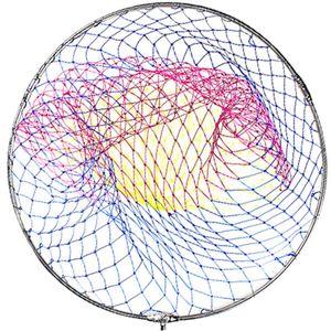 Diâmetro forte 60 cm Net Net Of Head Pesca Net Red Anel de Aço Inoxidável Rede de Pesca Ao Ar Livre Turck Dipneting Colher