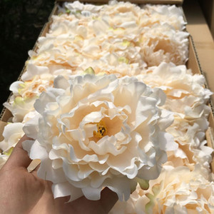 High Quality Silk Peony Flower Heads Wedding Party Decoration Artificial Simulation Silk Peony Camellia Rose Flower Wedding Decoration