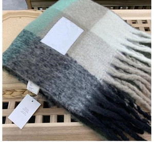 Wholesale-Brand Acne Studios high quality 4 color Wool scarf new rainbow grringed shawl for male and female 22