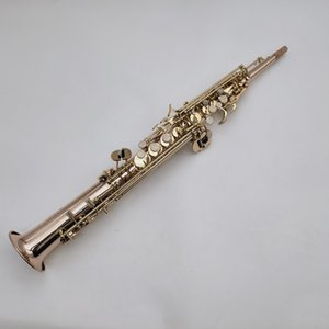 Soprano Saxophone YSS-875EX B Flat Phosphor Bronze Copper Plated Musical Instruments Professional With Case Mouthpiece Golves