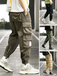 Corset overalls men's trendy student sports pants pique handsome men's Pants Capris casual Harem Pants in autumn