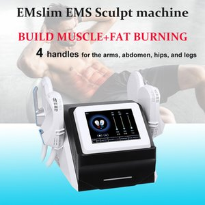 New Arrival 4 handle muscle building portable high intensity hi-emt ems muscle stimulator body sculpting machine emslim machine