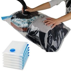 Storage Bags Convenient Vacuum Bag Home Organizer Transparent Clothes Seal Compressed Travel Saving Space Package