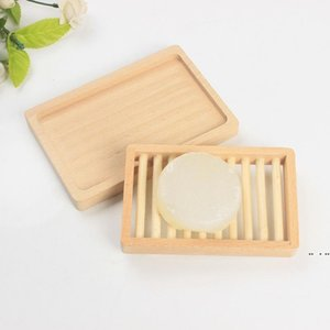Originality Rack Soap Tray Storage Box Dishes Double Diy Two Layers Deck Woman Man Fashion Supplies Wooden Holder Bath Latest DHB5118