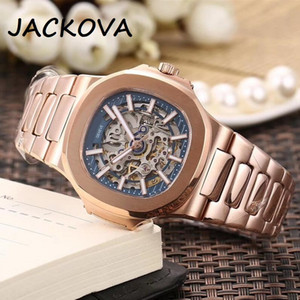 Hollow Skeleton Dial Automatic 2813 Mechanical Watch Men 316L Stainless steel Sapphire solid Clasp President Mens Watches Male Wristwatches