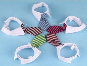 애완 동물 개 스트라이프 넥타이 칼라 고양이 활 귀여운 개 넥타이 12 색 패션 결혼식 조정 가능한 강아지 의류 무료 배송 LLS259