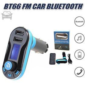 BT66 블루투스 FM 송신기 손 무료 FM 라디오 어댑터 수신기 자동차 키트 듀얼 USB 자동차 충전기 지원 SD 카드 USB 플래시 iPhone