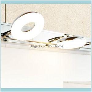 Deco El Supplies Home & Gardethroom Simple Led Mirror Front Light Makeup Stainless Steel Waterproof Anti-Fog Painting Wall Lamp Lb101308 Dro