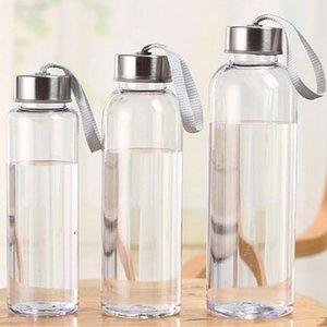 300ml 400ml 500 ml deportes al aire libre botellas de agua de agua plástico transparente redondo a prueba de fugas que lleva para la botella de agua Webware