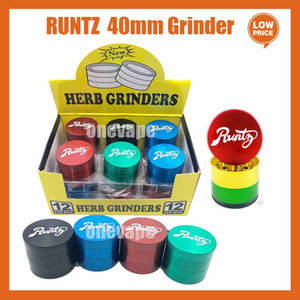 Runtz cookies Grinder California SF Vape Packaging 4 Layers Zinc Alloy Rainbow Herb Grinders 40*35mm Tobacco Accessories with Box Package