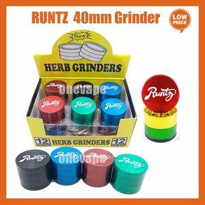 Runtz cookies Grinder California SF Vape Packaging 4 Layers Zinc Alloy Rainbow Herb Grinders 40*35mm Tobacco Accessories with Box Package