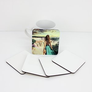 10*10cm Sublimation Coaster Wooden Blank Table Mats Heat Insulation Thermal Transfer Cup Pads DIY Coaster party favor
