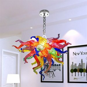 Art deco home decoration modern lamp hallway crystal hand mouth blown glass chandelier 16 inches  murano chandeliers for bedroom living dining room bar
