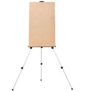 WACO Easel Stand Painting Artist Display Tripod for Event Cofffee Shop Table-Top, Aluminium Adjustable Height, with an Carrying Bag - White