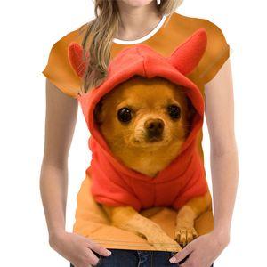 Fashion Lovely Dog 3D Print Women Ladies Girls DIY Customized T-Shirt Animal Harajuku Round Neck Short Sleeve Unisex Summer Tops & Tees XXS-6XL Dog-61815