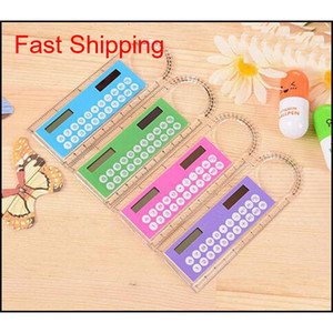 Student Ruler Calculator Plastic Mini Multifunction Calculator 10Cm Creative Stationery Portable Solar Calculator Straight Ruler Weza3 Litfn
