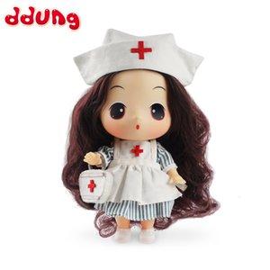 Ddung Reborn Baby Doll Toy 18 см / 7in Медсестра Мода Мини Принцесса Образовательные Образовательные Детские Игрушки День Рождения Подарок 3 года