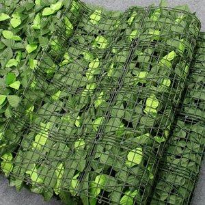 1M Artificial Faux Ivy Leaf Privacy Fence Garden Fence Green Plants Grass Wall Hotel Shop Shell Árbol de Navidad Decoración para el hogar Plantas