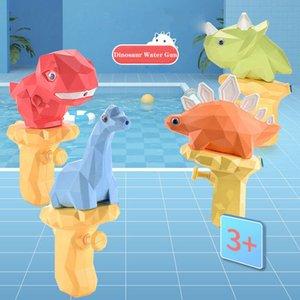 Water Gun Baby Toy Summer Cute Cartoon 3D Dinosaur Press Spray Guns Small Pistol Outdoor Sand Play Beach Garden Gift for Kid Boy Girl