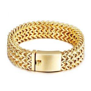 Lien, chaîne 12mm / 18mm / 30mm de large or argent couleur couleur couleur bicyclette bracelet punk hommes bracelets acier inoxydable bracelets bijoux bijoux BRASLETETE