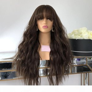 Malaysia #4 Body Wave Glueless Full Lace Human Hair Wigs with Bangs Transparent 13x6 Lace Front Fringe Wigs Pre Plucked Hairline