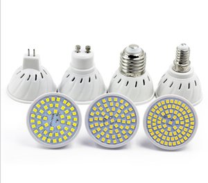 E27 E14 MR16 GU10 LAMPADA LED BULB 110V 220V Bombillas LED Lâmpada Spotlight 48 60 80 LED Lampara Spot CFL Crescer plantar luz
