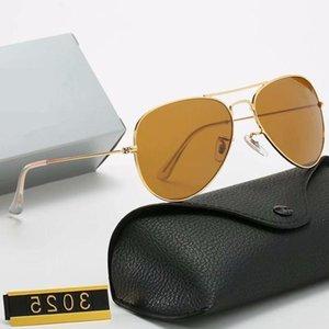 Pilotmarke Hot Designer Sonnenbrille Verkauf Vintage Mode Klassische Sonnenbrille Polarisierte UV400 Männer Frauen 58mm Glasglaslinsen