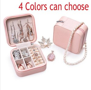 Jewelry Organizer Boxes Jewelry Collection Box PU Leather Necklaces Earrings Bracelet Case Portable Zipper Jewelry Storage Box