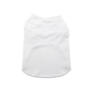 Sublimation Blank White DIY Vest Pet Dog Sleeveless Thin Vest Small Pet Heat Transfer Print Pet T-shirt YYS6358