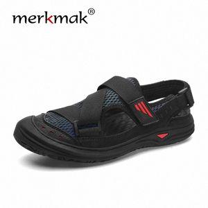 Merkmak 2020 летние новые мужчины мягкие сандалии удобные водяные туфли мягкие пляжные римские кроссовки обувь открытый дышащий ходьба W8GQ #