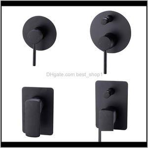 Matte Black Brass Shower Valve Shower Faucet Diverter Control Valve Wall Mounted Mixer Valve For Spout Shower Head L3Myf Jwton