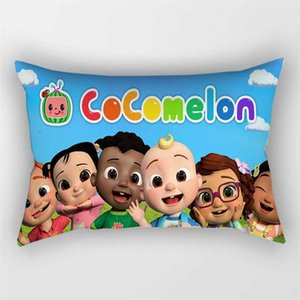 50*30CM multi colors cocomelon family friends print pillow case long throw cushions cover cartoon car sofa pillowcases pillowslip kids room decoration G76120S