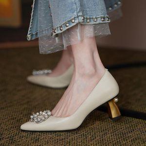 Elbise Ayakkabı Boncuk Tasarım Altın Topuk Gerçek Hakiki Deri Yüksek Topuklu Moda Seksi Kadınlar Stiletto Bayanlar Parti Düğün