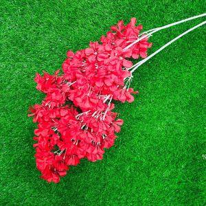 محاكاة البرقوق الكرز أزهار الحرير الاصطناعي الزهور شجرة ساكورا الفروع الجدول المنزل غرفة المعيشة الزفاف الديكور EWF4979