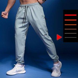 Running Pants Zipper Pockets Thin Sport Men Summer Outdoor Soccer Training Jogging Fitness