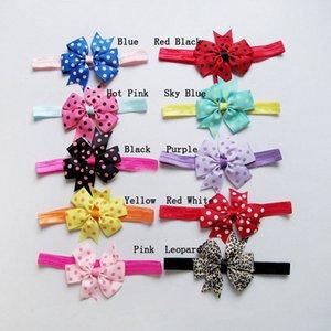 10 ألوان لطيف الانحناء هيرباند طفل الفتيات طفل أطفال مرونة عقال النايلون العمامة bowknots اكسسوارات للشعر