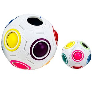 Magic Rainbow Puzzle Ball Speed Cube Ball Puzzle Game Fun Stress Reliever Magic Ball Brain Teaser Fidget Toys for Children Teens Kids