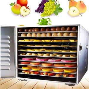 10 vassoi carne cibo deidrator deidrator macchina da frutto macchina spuntini secchi frutta macchina verdure in acciaio inox casa commerciale