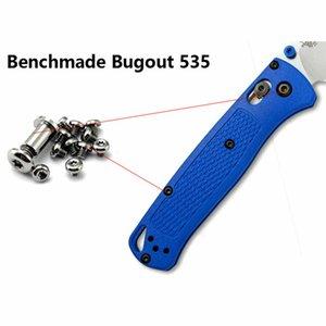 DIY التيتانيوم سكين المسمار مجموعة (لا سكين) ل benchmade 535 bugouts خفيفة مصباح يدوي مظلة الحبل قلادة OT175