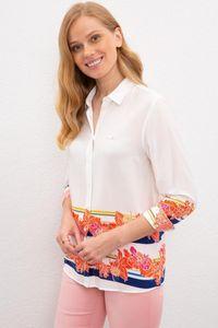Women's Blouses & Shirts Original Us. Assn. Women Shirt Blouse USPA Long Sleeve Casual Floral Pattern Season