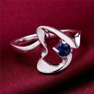 Anelli placcati in argento sterling con pietre preziose con pietre preziose della pietre preziose della pietra preziosa 8 DMSR466, miglior anello del solitario dell'anello del dito della piastra dell'argento 925